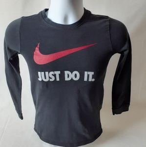 Nike just do it boys black long sleeve top